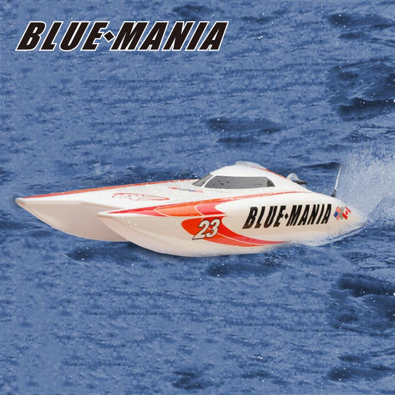 Electric ARTR Catamaran Speed Boat for Sale Blue Mania 8602