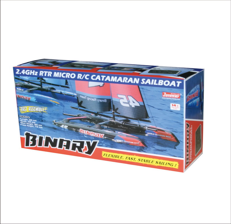 Color Box of Mini Child's Scale Model Good RC Sailboat for Pool Joysway BINARY 8807