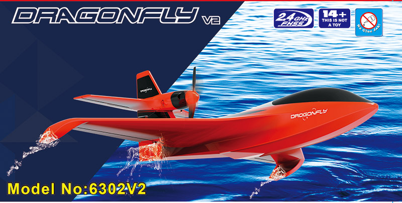 Professional RC All Terrain Launching Float Plane Dragonfly 6302