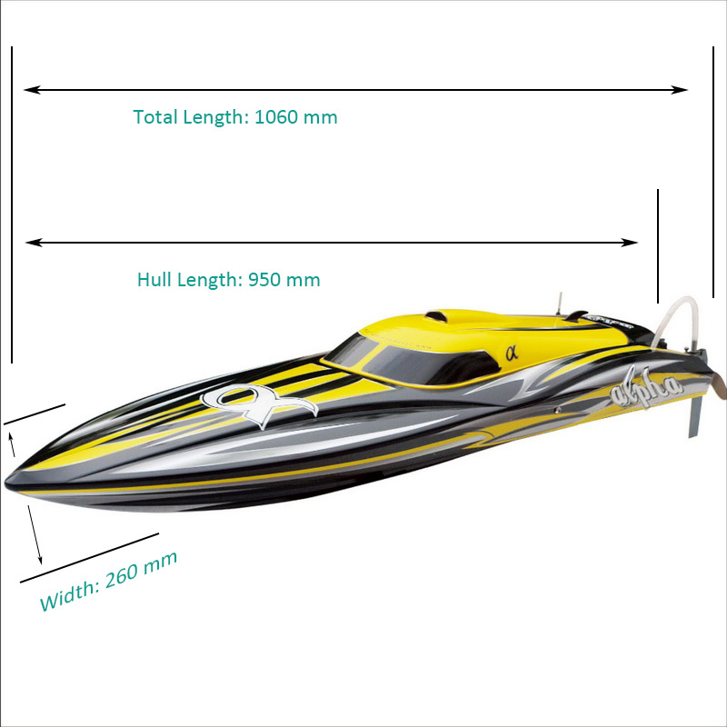 Sizes Display of Super Fast Large Brushless Speed Boat for Adults alpha 8901Y