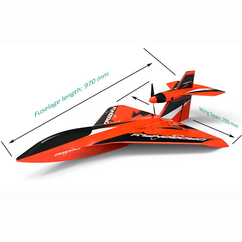 Sizes Display of Professional RC All Terrain Launching Float Plane Dragonfly 6302