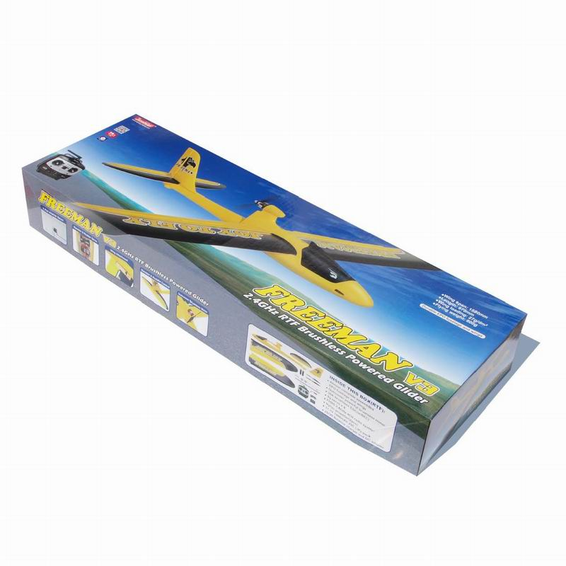 Color Box of Large Scale RC Flying Model Glider Plane for Adults Freeman 6103
