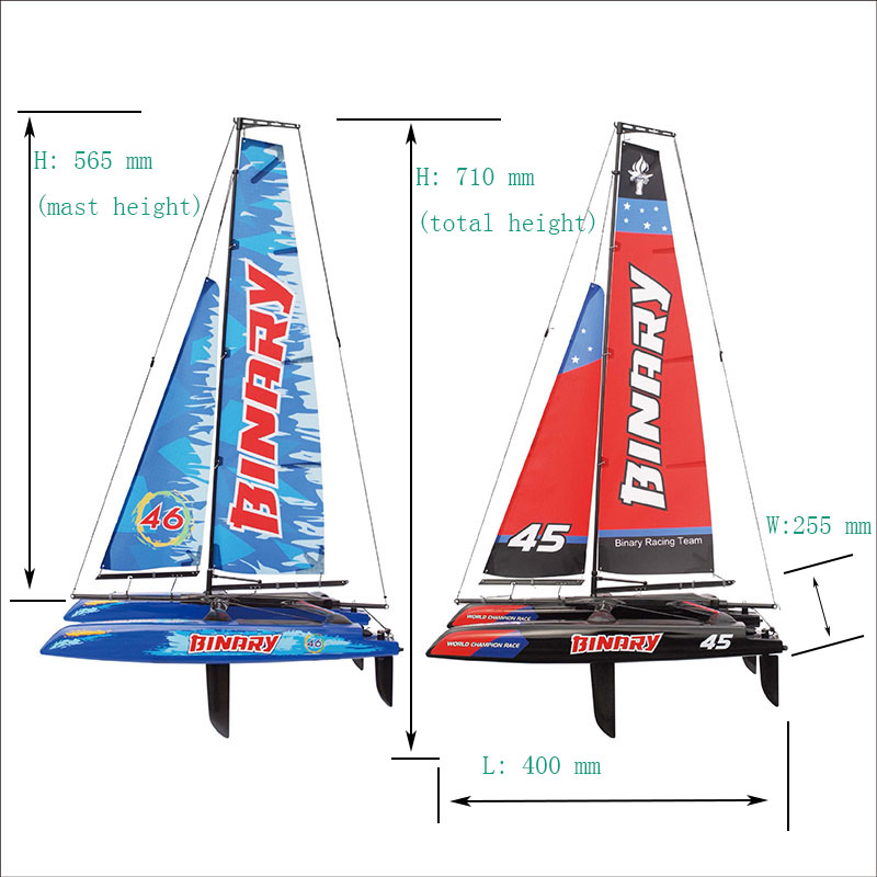 Size Mini Child's Scale Model Good RC Sailboat for Pool Joysway BINARY 8807