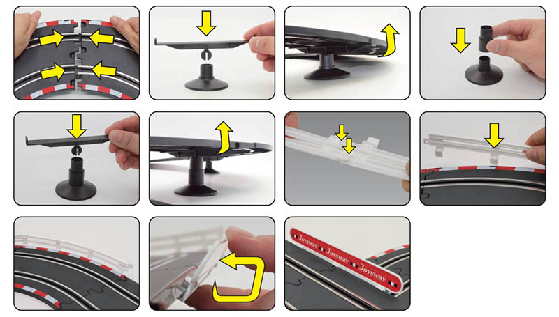 assembly instruction2 of special 101 slot car set