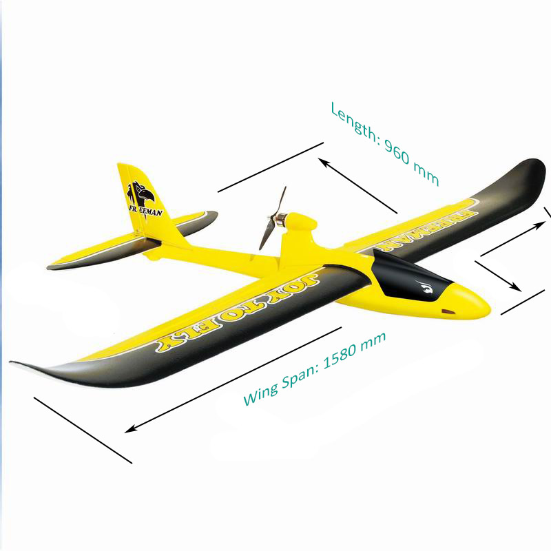 Size Display of Large Scale RC Flying Model Glider Plane for Adults Freeman 6103
