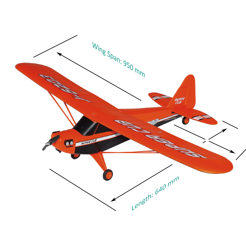 Size of RC Brushless Power Sports Aircraft Super-Cub 6203