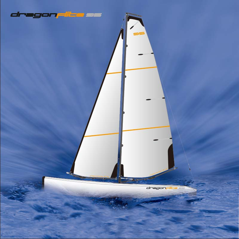 Large High Speed Best Racing RC Sailboat DragonFlite95