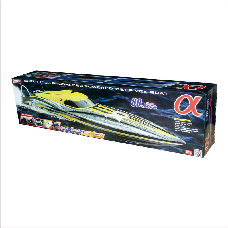 Color Box of Super Fast Large Brushless Speed Boat for Adults alpha 8901Y