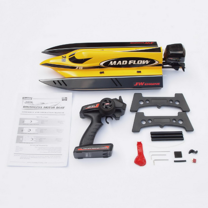 Packages of New ARTR Brushless F1 Power Speed Boat Mad Flow 8653
