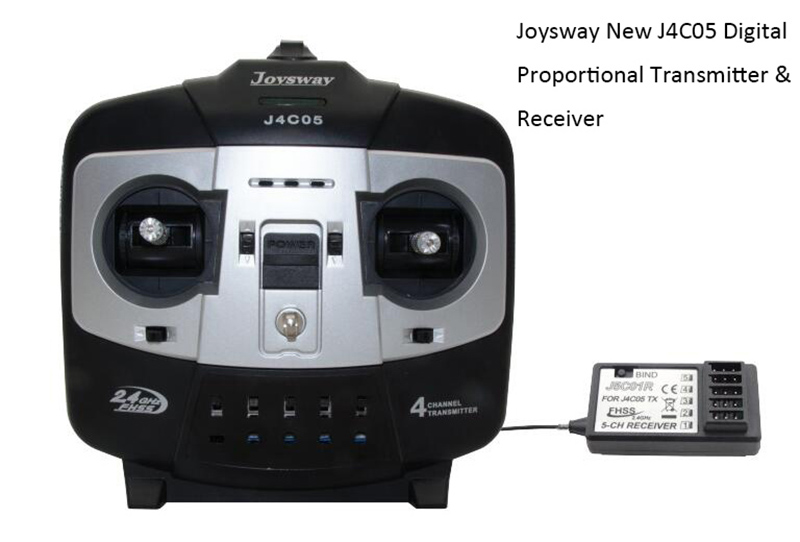 Joysway New J4C05 2.4GHz 4CH Digital Proportional Transmitter Receiver
