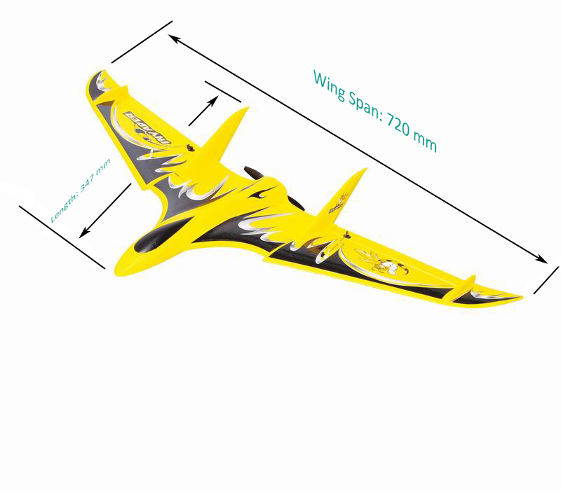 Size Display of Cool Mini RTF RC Flying Delta Wing for Sale Inv Ader 6104